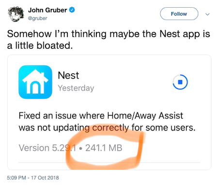Analysis of the Nest app for iOS